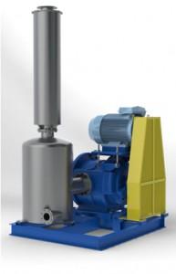 Pumpe mit Motor Abscheider und Schalldämpfer